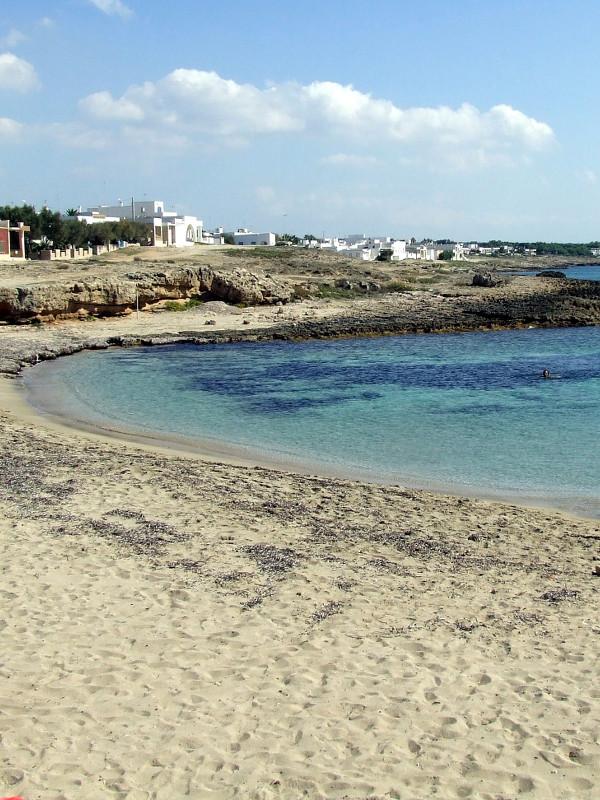 La spiaggia davanti casa